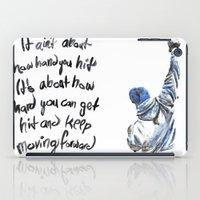 rocky iPad Cases featuring rocky by dareba