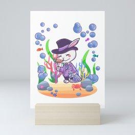 Easter Bunny Gentleman seawater gift Mini Art Print