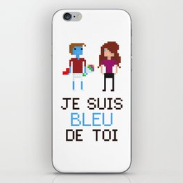 Bleu de toi iPhone Skin