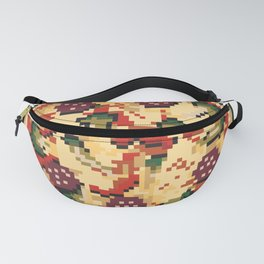 Pizza pixel art on white background. Fanny Pack