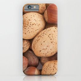Hazelnuts and almonds iPhone Case