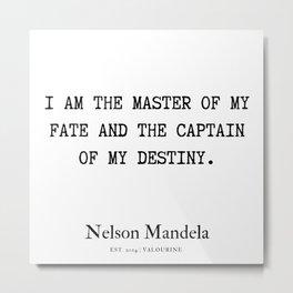 44  | Nelson Mandela  Quotes | 190818 Metal Print