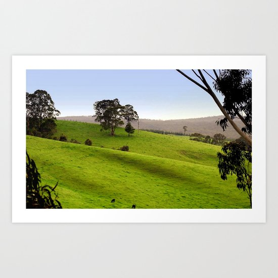 Valley of a Thousand Hills Art Print