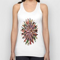 metallic Tank Tops featuring Metallic Snowflake by Brian Raggatt