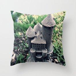 Garden Castle  Throw Pillow