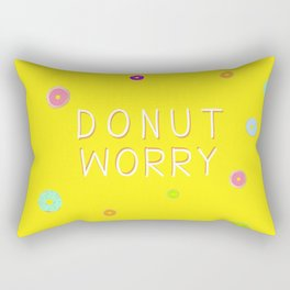 DONUT WORRY 3 (with text) Rectangular Pillow