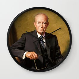 President Dwight Eisenhower Painting Wall Clock