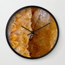 Golden Citrine Dream Wall Clock
