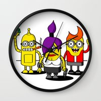 minions Wall Clocks featuring Despicable Minions and Futurama Mashup by TapedApe