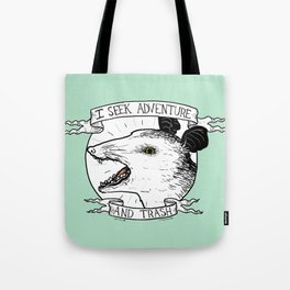 ADVENTURE AND TRASH Tote Bag