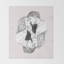 Reflective Kiss Throw Blanket