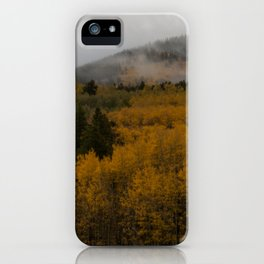 Fog over Kenosha Pass iPhone Case
