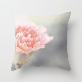 Carnation in Pink Throw Pillow