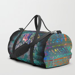 Fantastic elephant in grunge style Duffle Bag
