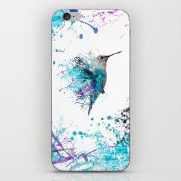 HUMMING BIRD SPLASH iPhone Skin