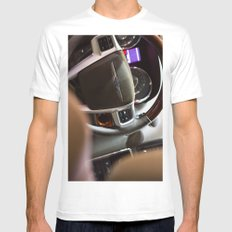 Chrysler Town & Country Limited Steering Wheel and Panel Mens Fitted Tee White MEDIUM