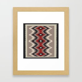 American Native Pattern No. 162 Framed Art Print
