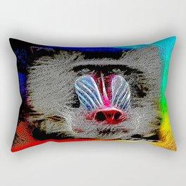 Primate Models: Mandrill Baboons 01-01 Rectangular Pillow