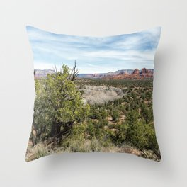 The View from Coyote Ridge Trail in Red Rock State Park Throw Pillow