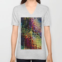 colorful abstract snake skin Unisex V-Neck
