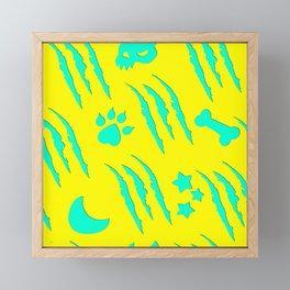 Werewolf Weather in Claws Framed Mini Art Print