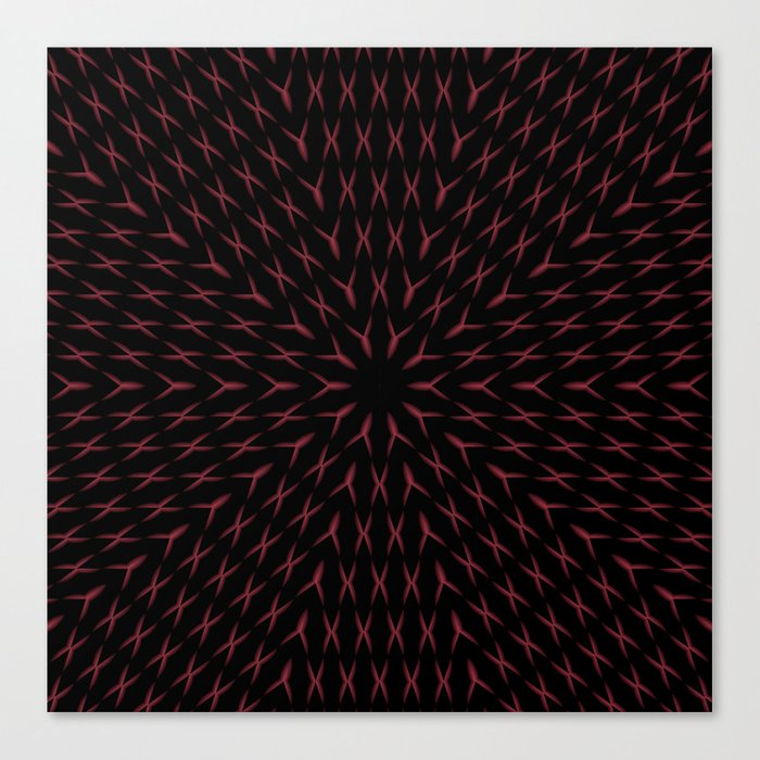 PCT2 Fractal in Red and Black Canvas Print