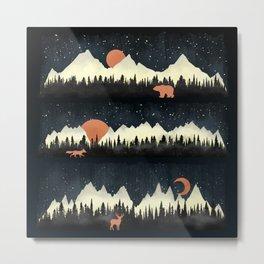 Mountains Here Metal Print
