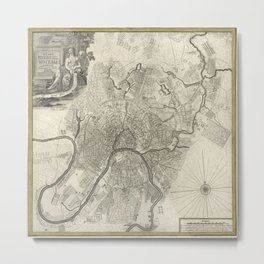 Map of Moscow - 1745 Metal Print