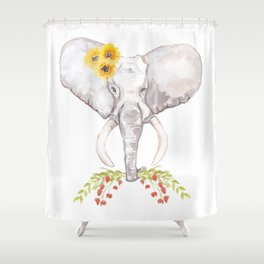 welcoming elephant Shower Curtain