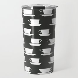 Pattern of Coffee and Tea Cups Travel Mug