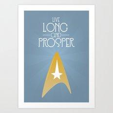 Startrek - Live long and prosper Art Print