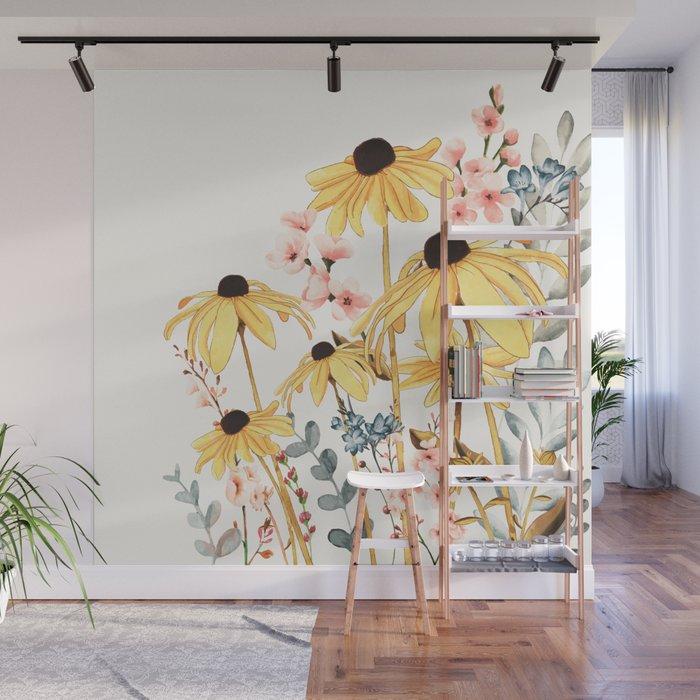 Summer Flowers Wall Mural