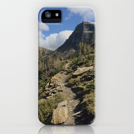 Swiftcurrent Pass Trail in Glacier National Park iPhone Case