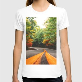 autumn road in new england T-shirt