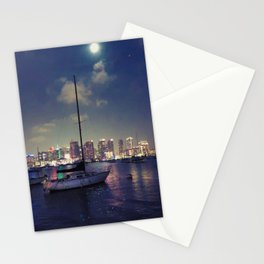 San Diego by Night - Oil Stationery Cards