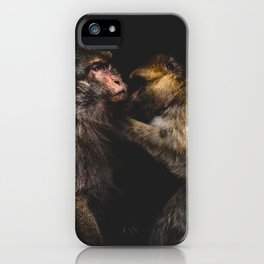 Monkeys Grooming iPhone Case