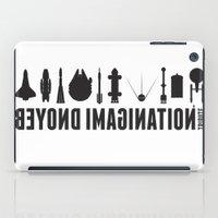 battlestar galactica iPad Cases featuring Beyond imagination: Battlestar Galactica postage stamp  by Chungkong