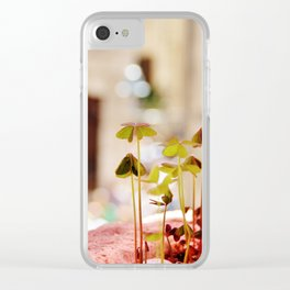 Clover forest Clear iPhone Case
