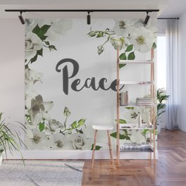 FLORAL DESIGN PEACE Wall Mural