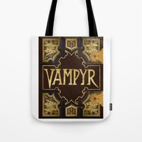 buffy the vampire slayer Tote Bags featuring Vampyr Book -- Buffy the Vampire Slayer by BovaArt