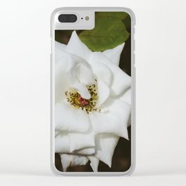 White Rose Clear iPhone Case
