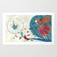 voyage Art Prints featuring voyage by flaviasorr