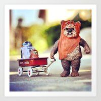 walking with wicket Art Print