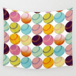 Pop Art Baseballs Wall Tapestry