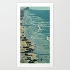 the encroaching wave Art Print