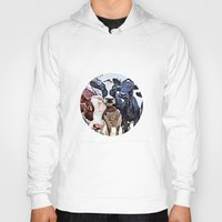 cows Hoodies featuring Funny cows by George Peters