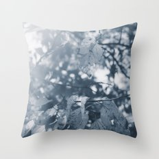 Abide with Me (Blue) Throw Pillow