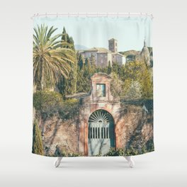 Tropical Forum - Rome Italy Travel Photography Shower Curtain