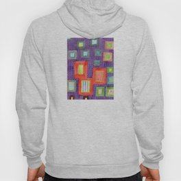 Various Frames on dotted Wall Hoody