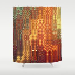 Distortions Shower Curtain